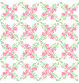 beautiful seamless spring pattern with flowers vector image vector image