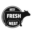 best fresh meat logo simple style vector image vector image