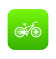 bicycle icon digital green vector image