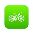 bicycle icon digital green vector image vector image