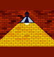 brick wall and lamp vector image vector image