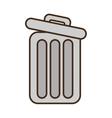 cartoon trash can web garbage information vector image