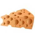 cheesy slice1 vector image vector image