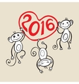 Chinese zodiac Monkey vector image