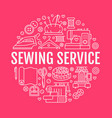 clothing repair sewing studio equipment banner vector image vector image