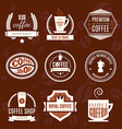Coffee Shop Logo Collection vector image