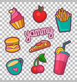 colorful quirky patches set pin trendy vector image vector image