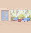 cottage house comfortable outdoor terrace vector image vector image
