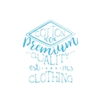 Cotton Clothing Vintage Emblem vector image vector image
