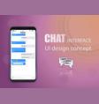 creative of messenger window vector image vector image