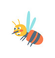 cute cartoon honey bee colorful character vector image