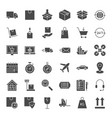 delivery solid web icons vector image vector image