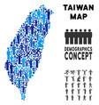 demographics taiwan island map vector image vector image