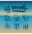 diving branding identity corporate logo vector image vector image