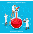 Drug Development People Isometric vector image vector image