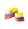 ecuador flag on a white vector image vector image