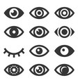 eyes icon set vector image vector image