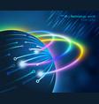fiber optic technology world vector image