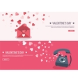 Flat background with envelope vector image