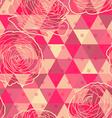 flower geometrical seamless pattern vector image vector image