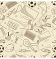Football seamless retro vector image vector image