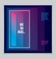 futuristic minimal brochure graphic design vector image