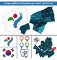 gangdong district seoul city south korea vector image vector image