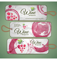 Grapes or Wine concept design vector image vector image