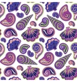 Hand draw sea shells pattern Seamless texture vector image vector image