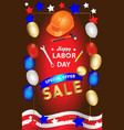 happy labor day banner design template il vector image