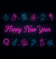 happy new year neon vector image vector image