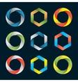 hexagons and circles vector image vector image