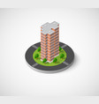 icon of the city with isometric vector image vector image