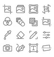 image editing icons set vector image vector image