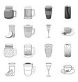 isolated object of drink and bar logo set of vector image vector image