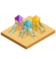 Isometric Playground Composition vector image vector image