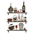kitchen shelves vector image vector image