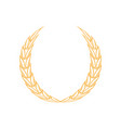 laurel wreath icon design template isolated vector image vector image