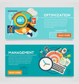 Management and Optimization Concept Banners vector image vector image