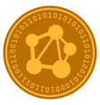 network digital coin vector image