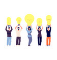 people and ideas different persons hold light vector image