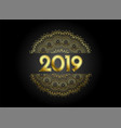 premium 2019 golden mandala style decorative vector image vector image