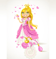 Pretty Princess with a love potion vector image vector image