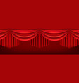 red curtains theater stage vector image