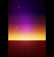 retro sci fi background vector image vector image