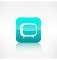 Retro tv icon Application button vector image