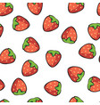 ripe and juicy strawberries on white background vector image