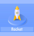 rocket icon symbol vector image