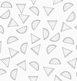 Seamless grey pattern with watermelons Pattern of vector image vector image
