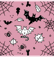 seamless pattern for halloween cartoon pattern vector image vector image
